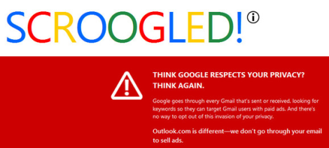 "Microsoft's""Have You Been Scroogled?"" Anti-Google Marketing Campaign"